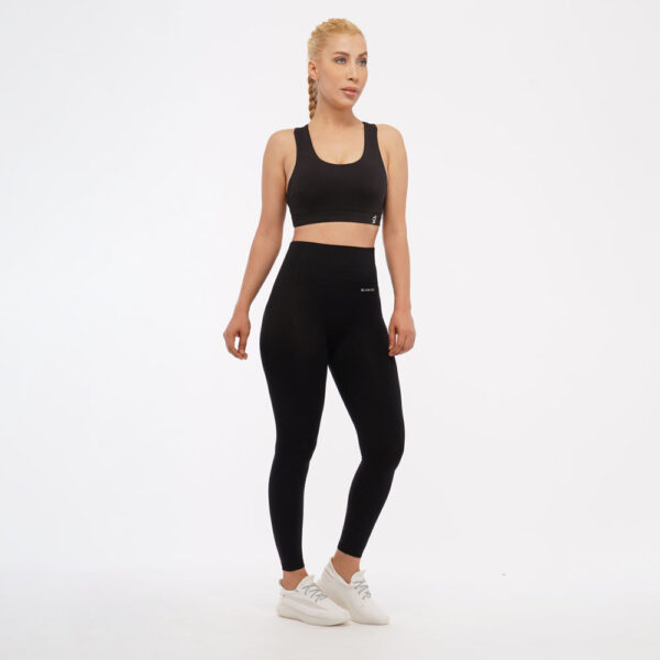 Women Seamless Workout Outfits - Leggings and Sports Crop Top
