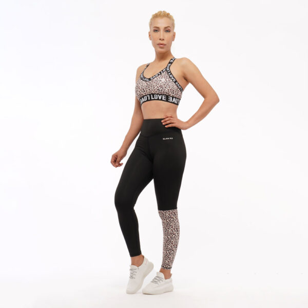 Women Seamless Workout Outfits - Leggings and love Sports Bras