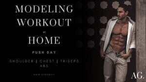 Modeling workout at home | push day
